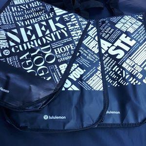 NEW 5 small lululemon reusable bags
